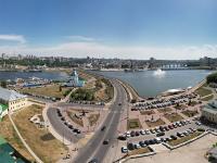 Сферическая панорама: Свято-Троицкий монастырь, Старый город, Дорога к храму, залив