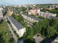 Вид сверху на пятиэтажки на улице Олега Кошевого