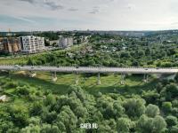 Вид сверху на Октябрьский мост