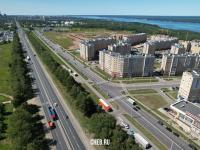 Дорога из Новочебоксарска и Чебоксарский проспект - Вид сверху