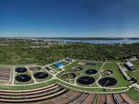 Сферическая панорама: Большие очистные сооружения в Новочебоксарске