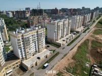 Вид сверху на дома по улице Ярмарочная