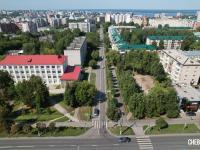 Вид сверху на улицу Чапаева