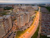 Вечерний вид на улицу Хабиба Миначева