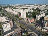 "Вид сверху на район торгового дома ""Москва"""