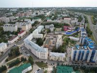 Вид сверху на проспект Ленина