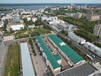 Вид сверху на Первую площадку и ул. Карла Маркса