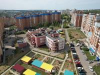 Вид сверху на детский сад №202 на ул. Крылова