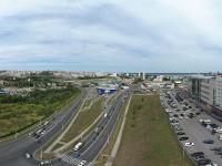 Сферическая панорама: Деловой проезд, Президентский бульвар