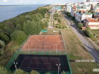 Вид на теннисные корты