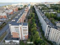 Вид на дома на первой и второй линии: пр. Максима Горького 51 и 47