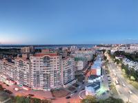 Сферическая панорама: Московский проспект, Студенческий сквер вечером