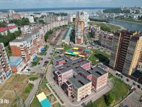 Вид сверху на детский сад и район улиц Крылова и Маркова