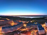 Сферическая панорама: Западная часть Нового города вечером
