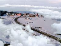 Дорога к храму зимой