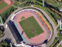 Стадион Олимпийский с высоты птичьего полета