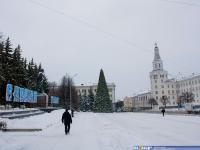 Новогоднее оформление площади Республики