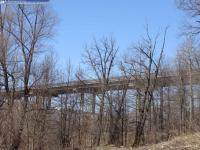 Гагаринский мост. Вид из Лакреевского леса