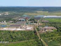 Вид сверху на большие очистные сооружения (БОС)
