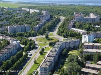 Вид сверху на улицу Советская