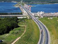 Вид на Чебоксарскую ГЭС