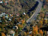 Вид сверху на улицу Фучика и Гагаринский мост