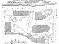 Схематический план Троицкого монастыря (1566 год)
