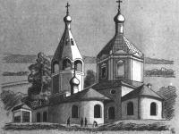 Владимирская одноглавая церковь с шатровой колокольней (1716 год) Владимирского женского монастыря