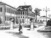 В центре - постоялый двор Антонова (XIX век)