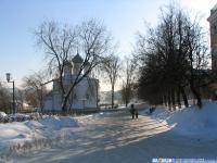улица Бондарева зимой
