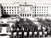 Сквер на площади Ленина. 30 апреля 1976 г.