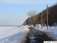 Московская набережная зимой