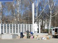 Ремонт памятника в Сквере Победы