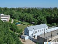 Вид на электростанцию и детский сад