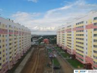 Разноцветные дома микрорайона Садовый