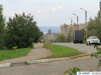 Пешеходная часть улицы Лебедева