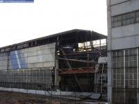 Один из цехов Текстильмаша после пожара